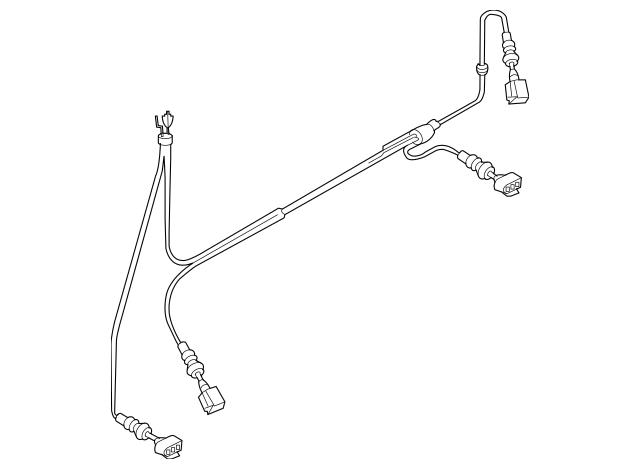 Genuine Audi ABS Wheel Speed Sensor Wiring Harness 8K1-972