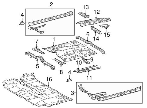 Genuine OEM Floor Parts for 2013 Toyota 4Runner Trail