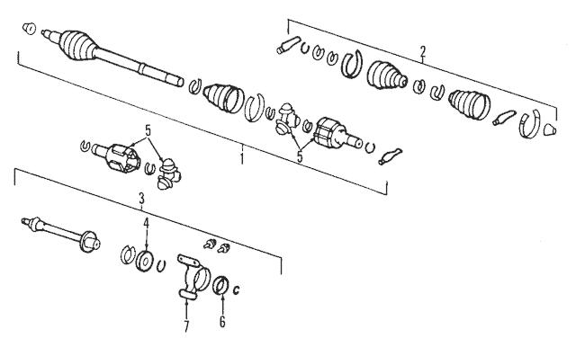 1990-2017 Honda Bearing, Half Shaft (Ntn) 91057-SH3-008