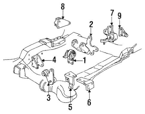 ENGINE & TRANS MOUNTING for 1998 Pontiac Bonneville (SSEi)