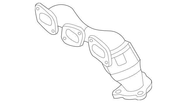 2002-2004 Mazda MPV Catalytic Converter With Integrated