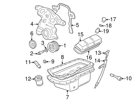 ENGINE PARTS for 2003 Chevrolet Impala