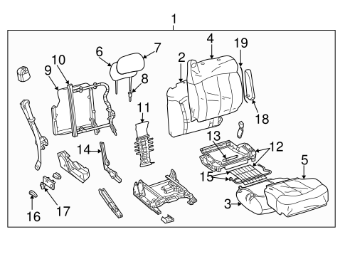 OEM FRONT SEAT COMPONENTS for 2005 Chevrolet Avalanche