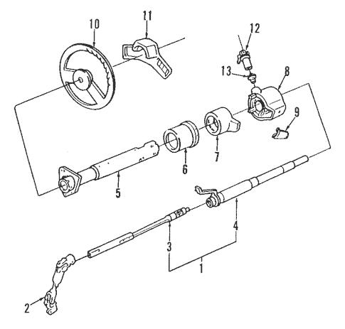 OEM Steering Column Assembly for 1984 Chevrolet G20