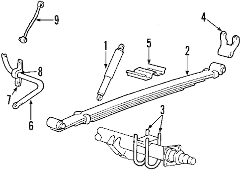 REAR SUSPENSION for 1999 Ford F-250 Super Duty