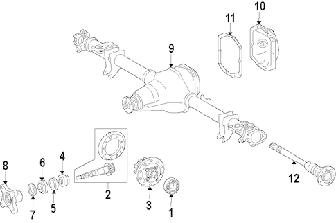 REAR AXLE for 2014 Mercedes-Benz Sprinter 2500