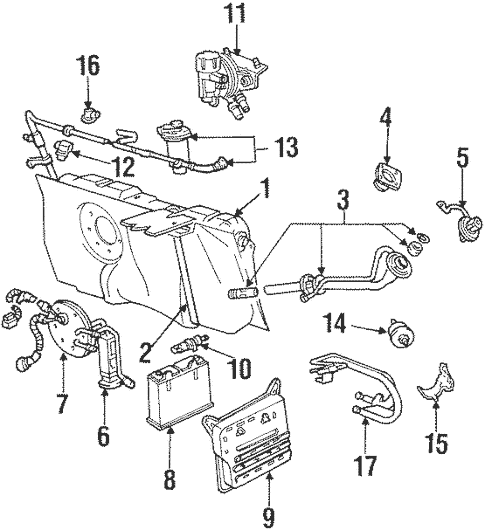 Fuel System Components for 1998 Mercury Grand Marquis
