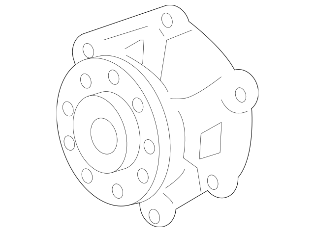 12657499 Water Pump for 2008 Buick Enclave : GM Parts Now
