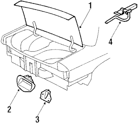 LID & COMPONENTS for 1996 Chevrolet Corsica