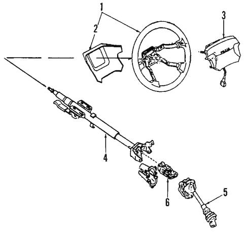 Genuine OEM Steering Column Parts For 1987 Mazda RX-7 LX