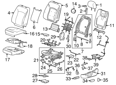 Driver Seat Components for 2013 Buick LaCrosse