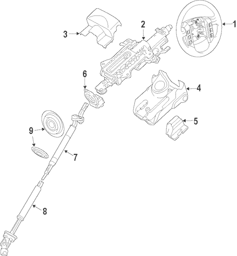 Steering Column for 2006 Land Rover Range Rover Sport
