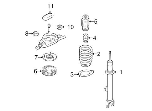 Genesis Front Suspension/Struts & Components Parts