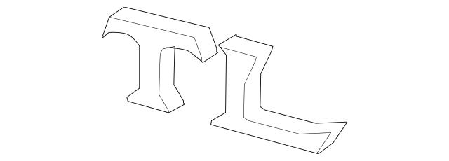 2007-2014 Acura TL SEDAN Emblem, Rear (Tl) 75722-SEP-A01