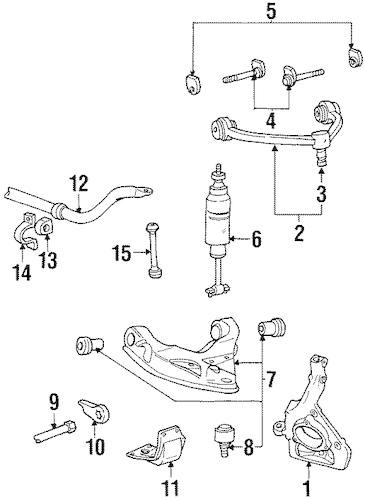 Stabilizer Bar & Components for 1997 Mercury Mountaineer