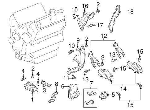 OEM ENGINE & TRANS MOUNTING for 2002 Chevrolet Impala