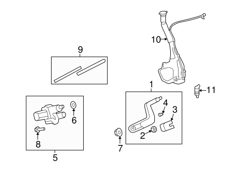 WIPER & WASHER COMPONENTS Parts for 2008 Saturn Outlook