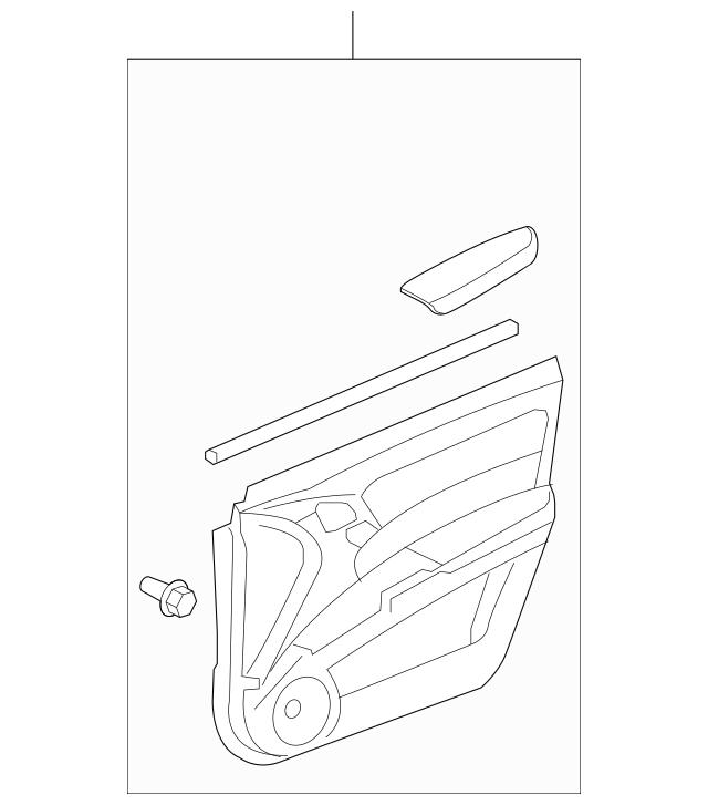 2010-2012 Acura RDX 5-DOOR Lining, R Front Door (Lower