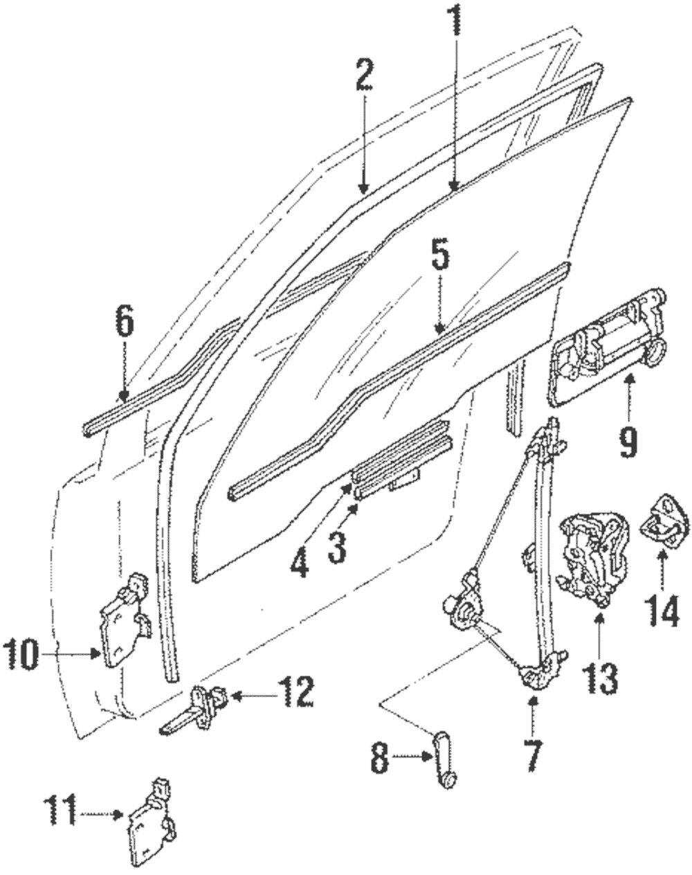 OEM Genuine GM Manual Window Regulator 1998 Chevrolet