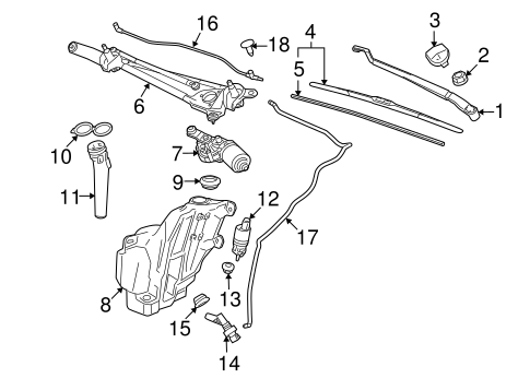 WIPER & WASHER COMPONENTS for 2011 Buick LaCrosse