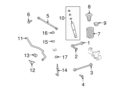 Genuine OEM Rear Suspension Parts for 2008 Toyota FJ