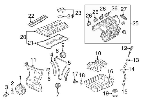 Engine Parts for 2014 Mitsubishi Outlander Sport