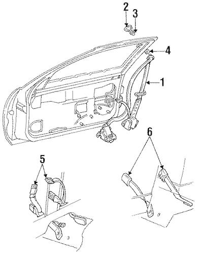 OEM 1988 Buick Regal Front Seat Belts Parts