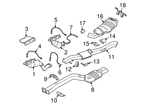 exhaust components for 2004 bmw x3