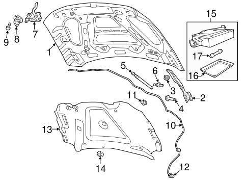 HOOD & COMPONENTS for 2014 Ram 2500