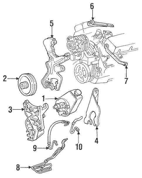 Pump & Hoses for 1998 Chevrolet Suburban C1500