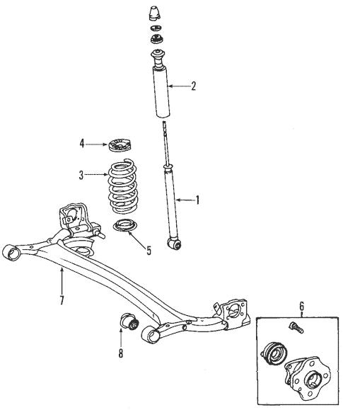 Genuine OEM Rear Suspension Parts for 2005 Toyota Echo