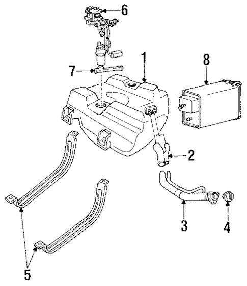 OEM 1993 Cadillac Allante Fuel System Components Parts