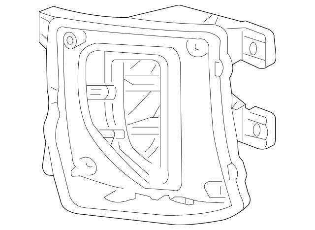 2016-2018 Chevrolet Silverado 1500 Fog Lamp Assembly