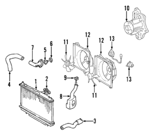 Genuine OEM Radiator & Components Parts for 2004 Toyota