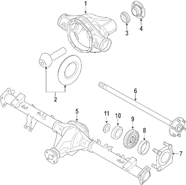 2008-2015 Nissan Titan Bearing Retainer 43082-ZR00A
