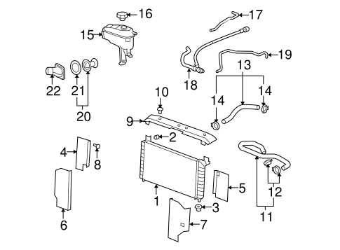OEM 2007 Cadillac Escalade ESV Radiator & Components Parts
