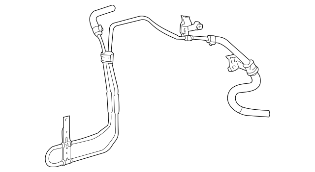 2003-2006 Toyota Matrix Power Steering Return Line 44406