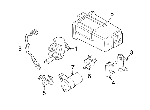 EMISSION COMPONENTS for 2008 Nissan Xterra