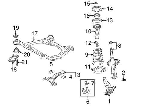 Genuine OEM Suspension Components Parts for 2004 Toyota
