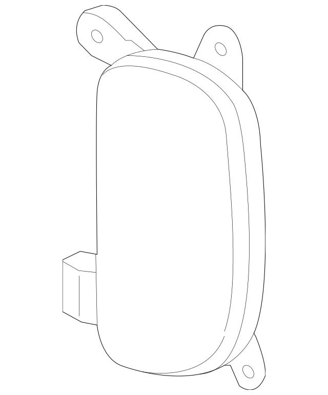 Genuine OEM Reflector Part# 92405-2P700 Fits 2014-2015 Kia