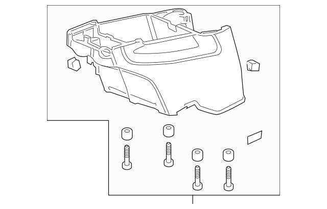 2011-2016 Honda ODYSSEY 5-DOOR Box Assembly *yr400l* 83414