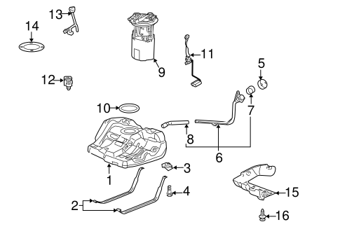 Fuel System Components for 2007 Chevrolet Impala
