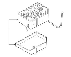 2001-2003 Hyundai Elantra Fuse & Relay Box 91840-2DA00