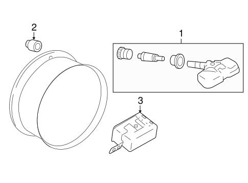 Tire Pressure Monitor Components for 2009 Infiniti EX35
