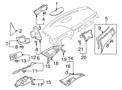 Instrument Panel Components for 2012 Suzuki Kizashi