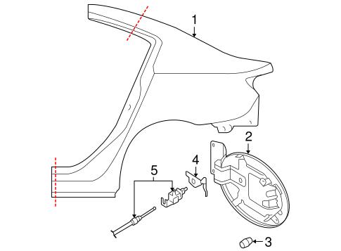 Quarter Panel & Components for 2008 Mazda 3