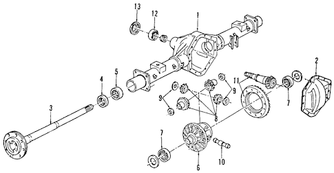 DIFFERENTIAL for 1996 GMC G3500
