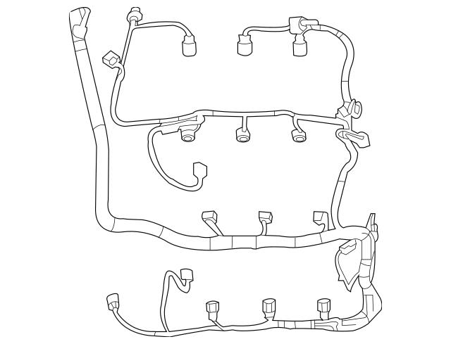DU5Z-12A581-BA 2013-2015 Ford Engine Wiring Harness