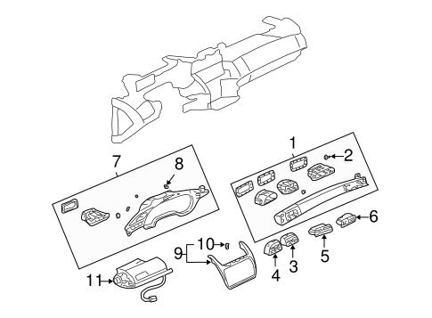 OEM 2000 Cadillac DeVille Instrument Panel Components