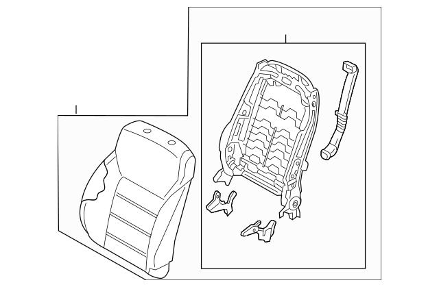 Buy this Genuine 2016-2018 Kia Sorento Seat Back Assembly